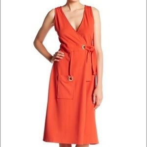 Kensie Brand Crepe Wrap Dress XS
